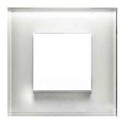 Рамка 1 пост ABB ZENIT, белое стекло, N2271 CB