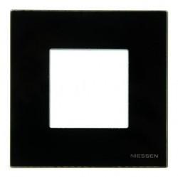 Рамка 1 пост ABB ZENIT, черное стекло, N2271 CN