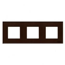 Рамка 3 поста ABB ZENIT, кофейный, N2273 CC
