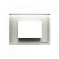 Рамка 3 модуля ABB ZENIT, белое стекло, N2473 CB