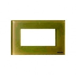 Рамка 4 модуля ABB ZENIT, белое стекло, N2474 CB