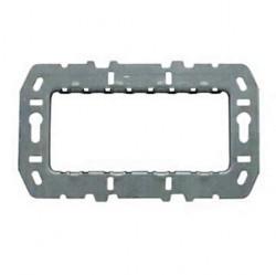 Суппорт стальной для рамок итальянского стандарта, на 7 модулей, без монтажных лапок