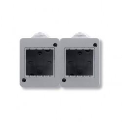 Zenit/Stylo Коробка IP40 для открытой установки на 4 модуля, серая