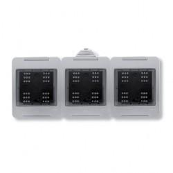 Zenit/Stylo Коробка IP55 для открытой установки на 6 модулей, серая