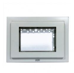 Рамка монтажная ITA, 3-модульная, рамка+набор монтажный IP55, FM, серия Zenit, цвет белый
