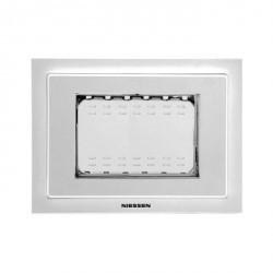 Рамка монтажная ITA, 3-модульная, рамка+набор монтажный IP55, FM, серия Zenit, цвет серый