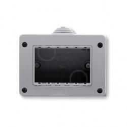 Zenit/Stylo Коробка IP40 для открытой установки на 3 модуля, серая
