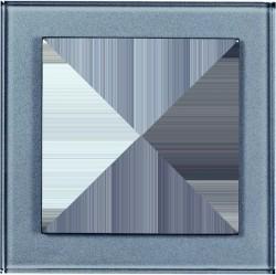 Рамка 1 пост Honeywell AURA GLAS, алюминий, 101311