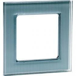 Рамка 1 пост Honeywell AURA GLAS, алюминий, 102411
