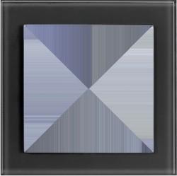Рамка 1 пост Honeywell AURA GLAS, черное стекло, 123111