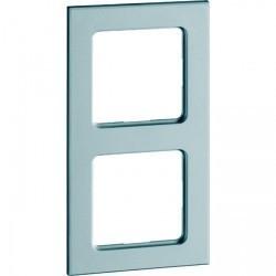 Рамка 2 поста Honeywell AURA GLAS, зеркальное стекло, 162211