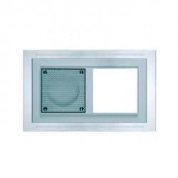 D 20.672.702 W MP3 Рамка двойная алюм. Nova с белой подсветкой