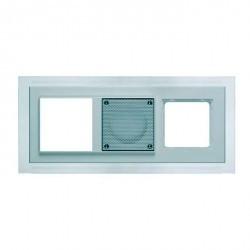 D 20.673.022 B MP3 Рамка тройная белая Nova с голубой подсветкой