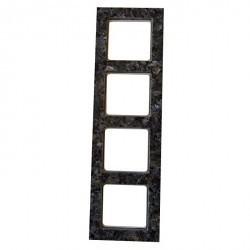 Рамка 4 поста Honeywell AURA STEIN, серый перламутр, 182411