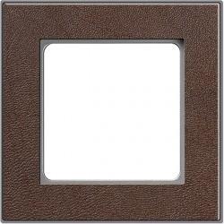 Рамка 1 пост Honeywell NOVA, темная кожа, 183991
