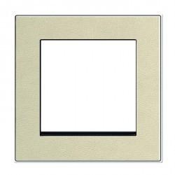 Рамка 1 пост Honeywell NOVA, кремовая кожа, 184191