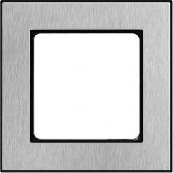 Рамка 1 пост Honeywell NOVA, матированная сталь, 184491