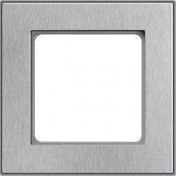 Рамка 1 пост Honeywell NOVA, матированная сталь, 184591