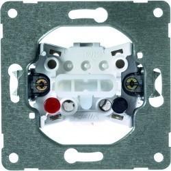 Механизм выключателя 1-клавишного кнопочного Honeywell Коллекции Рeha, с подсветкой, скрытый монтаж, 193111
