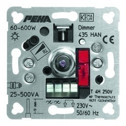 Механизм поворотного светорегулятора Honeywell Коллекции Рeha, 600 Вт, 209713