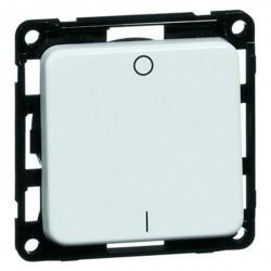 Выключатель 1-клавишный двухполюсный Honeywell COMPACTA, скрытый монтаж, белый, 600211