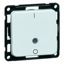 Выключатель 1-клавишный кнопочный двухполюсный Honeywell COMPACTA, скрытый монтаж, белый, 601211