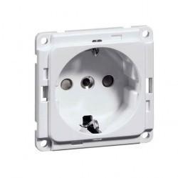 Розетка Honeywell COMPACTA, скрытый монтаж, с заземлением, белый, 602011