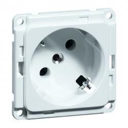 Розетка Honeywell COMPACTA, скрытый монтаж, с заземлением, белый, 602311