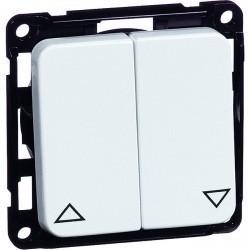 Выключатель для жалюзи 2-клавишный кнопочный Honeywell COMPACTA, белый, 603451