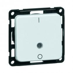 Выключатель 1-клавишный двухполюсный Honeywell COMPACTA, скрытый монтаж, серый, 610311