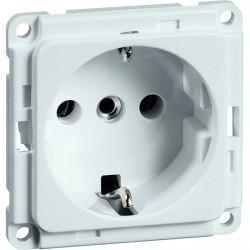 Розетка Honeywell COMPACTA, скрытый монтаж, с заземлением, белый, 612011