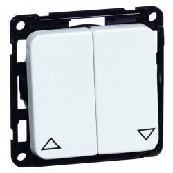 Выключатель для жалюзи 2-клавишный кнопочный Honeywell COMPACTA, серый, 613011