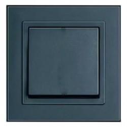 Выключатель 1-клавишный Honeywell COMPACTA, скрытый монтаж, черный, 615111