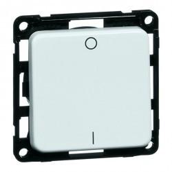 Выключатель 1-клавишный двухполюсный Honeywell COMPACTA, скрытый монтаж, черный, 615211