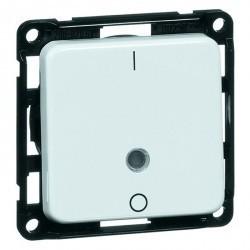 Выключатель 1-клавишный двухполюсный Honeywell COMPACTA, скрытый монтаж, черный, 615311