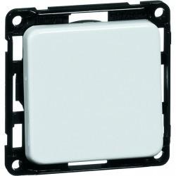 Выключатель 1-клавишный кнопочный Honeywell COMPACTA, скрытый монтаж, черный, 616111