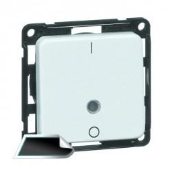 Выключатель 1-клавишный кнопочный двухполюсный Honeywell COMPACTA, скрытый монтаж, черный, 616211