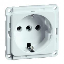 Розетка Honeywell COMPACTA, скрытый монтаж, с заземлением, со шторками, белый, 617211