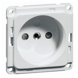 Розетка Honeywell COMPACTA, скрытый монтаж, с заземлением, со шторками, белый, 617911