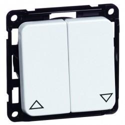 Выключатель для жалюзи 2-клавишный кнопочный Honeywell COMPACTA, алюминий, 618411