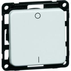 Выключатель 1-клавишный двухполюсный Honeywell COMPACTA, скрытый монтаж, алюминий, 622511