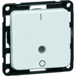 Выключатель 1-клавишный двухполюсный Honeywell COMPACTA, скрытый монтаж, алюминий, 622611