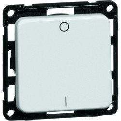Выключатель 1-клавишный двухполюсный Honeywell COMPACTA, скрытый монтаж, хром, 625211