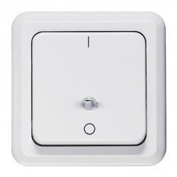Выключатель 1-клавишный кнопочный Honeywell COMPACTA, скрытый монтаж, хром, 626111