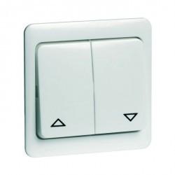 Выключатель для жалюзи 2-клавишный кнопочный Honeywell COMPACTA, алюминий, 641311