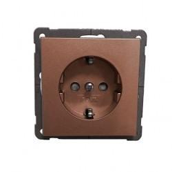 Розетка Honeywell DIALOG, скрытый монтаж, с заземлением, темно-коричневый, 775511