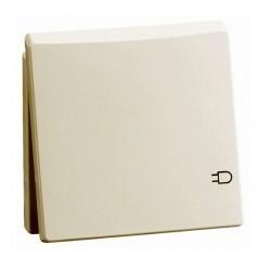 Розетка Honeywell DIALOG, скрытый монтаж, с заземлением, с крышкой, алюминий, 830111