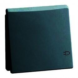 Розетка Honeywell DIALOG, скрытый монтаж, с заземлением, с крышкой, синий, 848411
