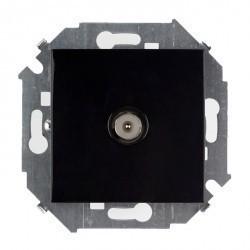 Розетка TV Honeywell COMPACTA, одиночная, черный, 936391