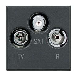 Розетка TV Honeywell COMPACTA, одиночная, алюминий, 939691